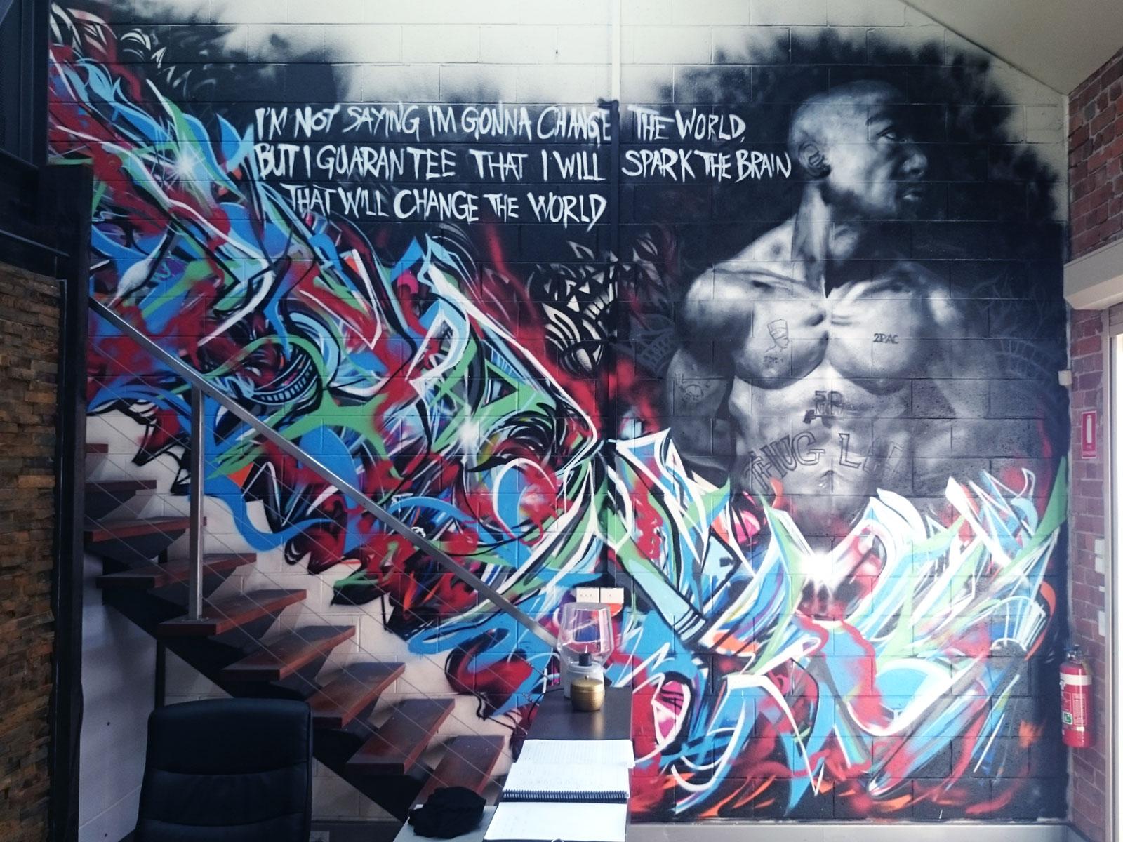 Tupac Shakur mural