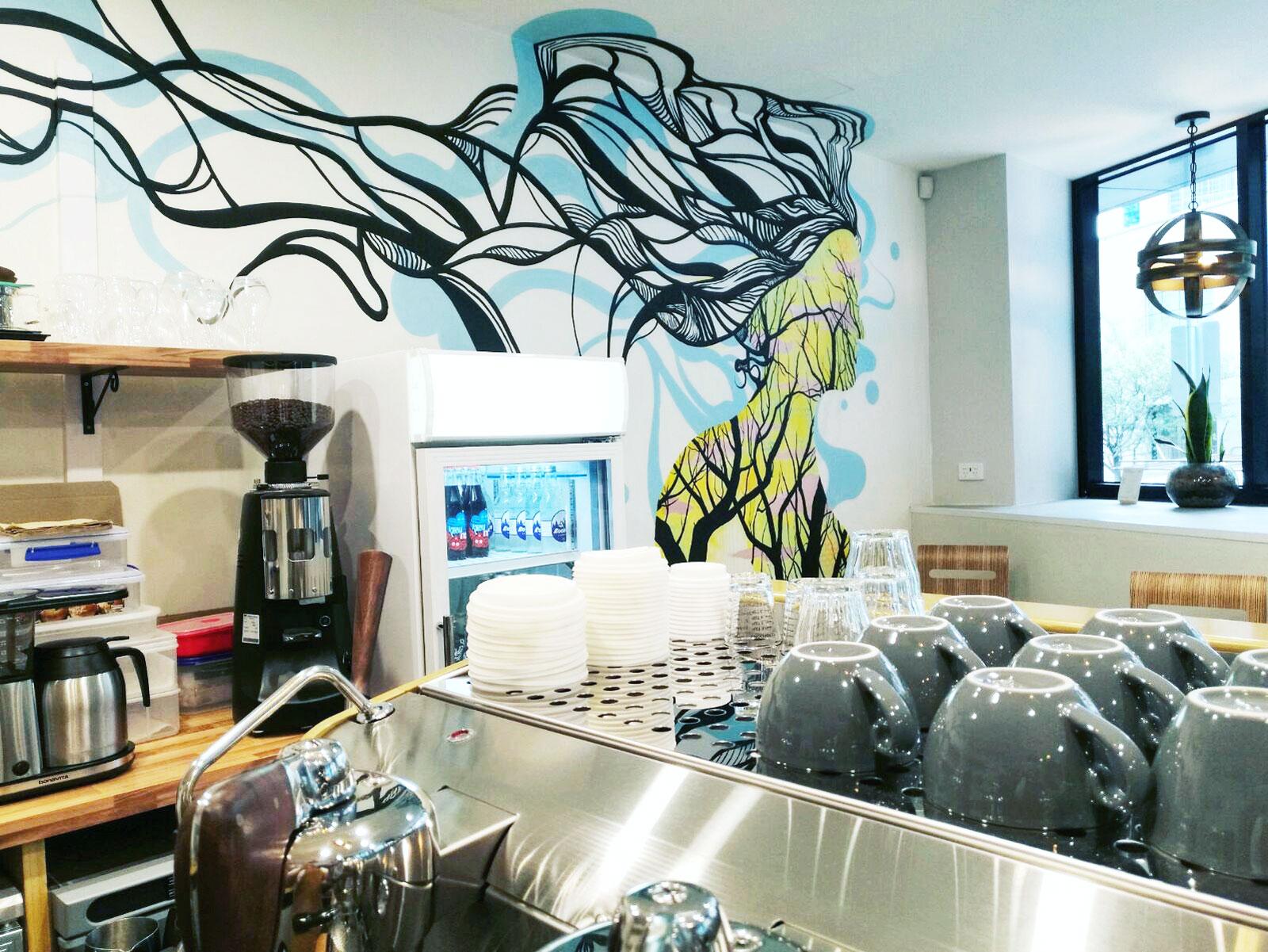 annie & ben's cafe mural