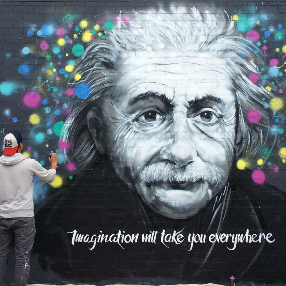 Degani cafe mural