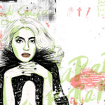 lady gaga magazine illustration