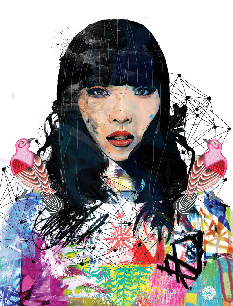 Dami Im portrait illustration