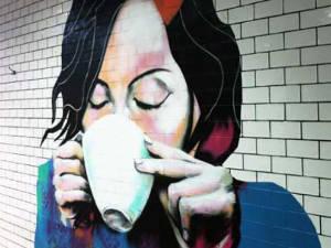 Coffee Girl mural