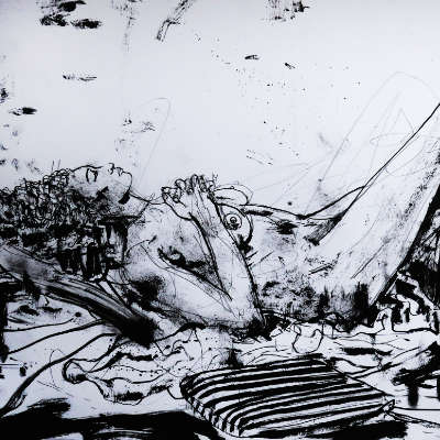 Breanna Daydream ink drawing