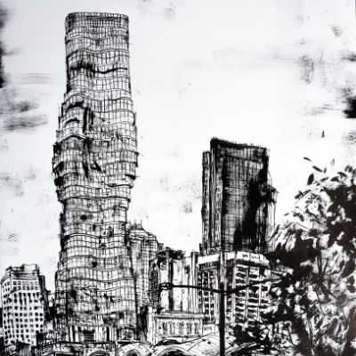 Melbourne ink drawing